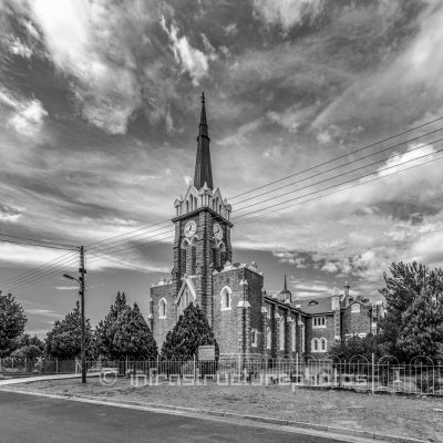 The Dutch Reformed Church building in Molteno Street, Eastern Cape is situated on a portion of certain piece of land marked No. 76 (now known as Erf 1191, Barkly East), situated in the Village of Barkly East, Division of Barkly East.